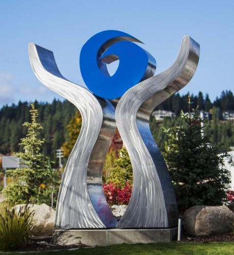 """The Gift""Coure D Alene ID.16 feet tall Stainless steel"