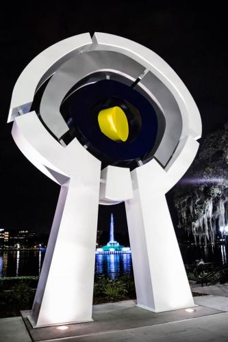 """Centered""Lake Eola Orlando FL.27 feet tall center element Kinetic"